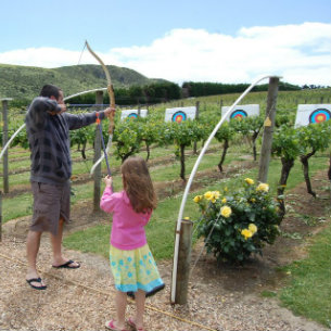 Archery at Wild Estate Vineyard