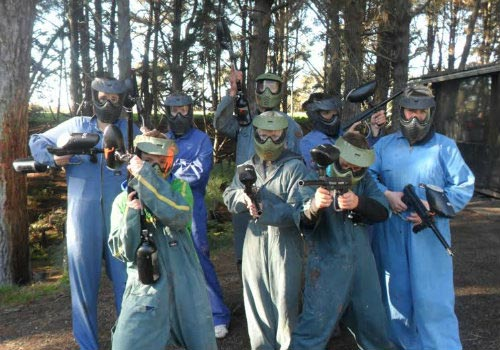 players at hinterland paintball in hamilton city