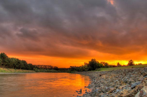 Palmerston north sunset by the river
