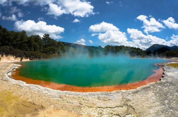 Hot springs in rotorua