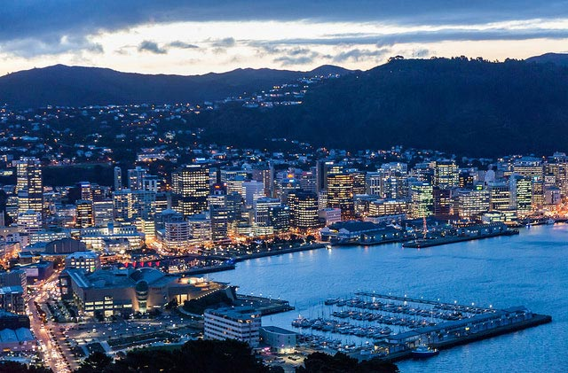 Aerial view of wellington