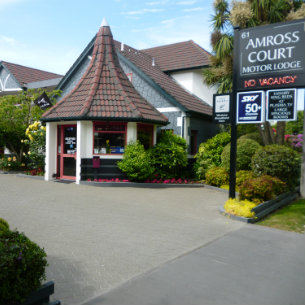 amross court motor lodge in christchurch