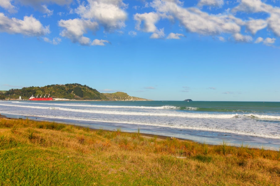 Beach at Poverty Bay, Gisborne, North Island, NZ