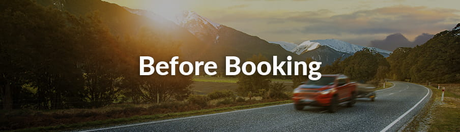 Before booking a rental car in NZ guide banner
