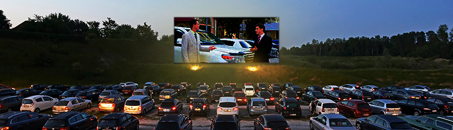 Drive-in outdoor cinema
