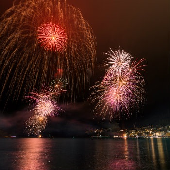 Fireworks display at Earnslaw Park for Queenstown Winter Festival
