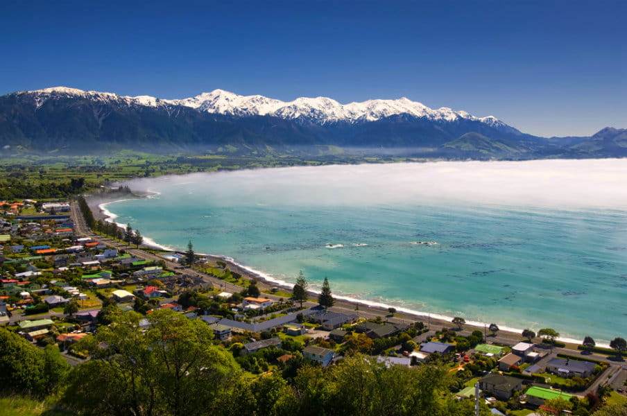 Kaikoura township, South Island, NZ