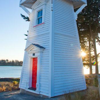 Modern light house at Timaru, NZ