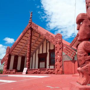 Maori Marae, meeting house