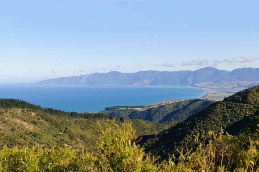 Panorama of the Wairarapa coastline