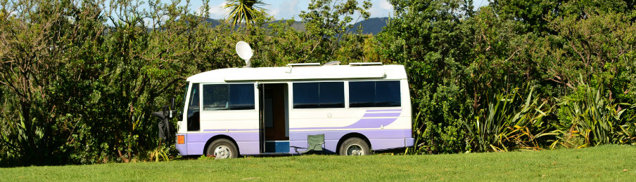 parked campervan hire in australia