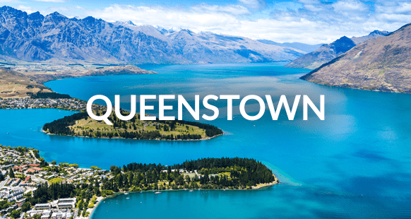 Aerial View of Lake Wakatipu in Queenstown