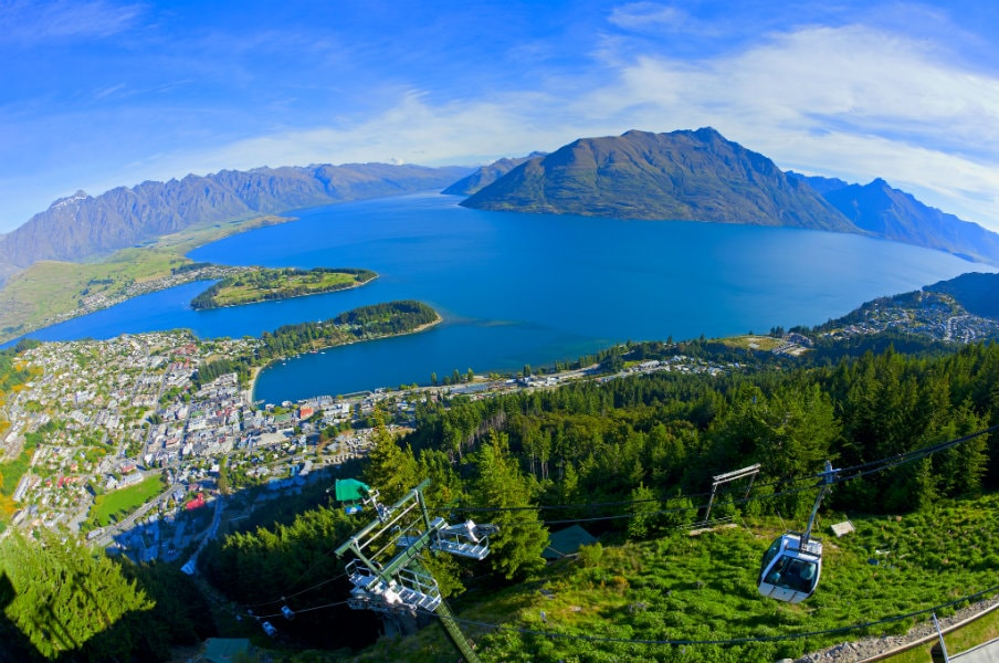 Skyline gondola in Queenstown, NZ