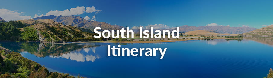 South Island Itinerary in NZ guide banner