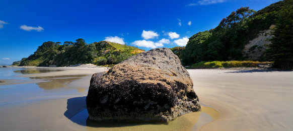wonderful beach in bay of plenty, new zealand