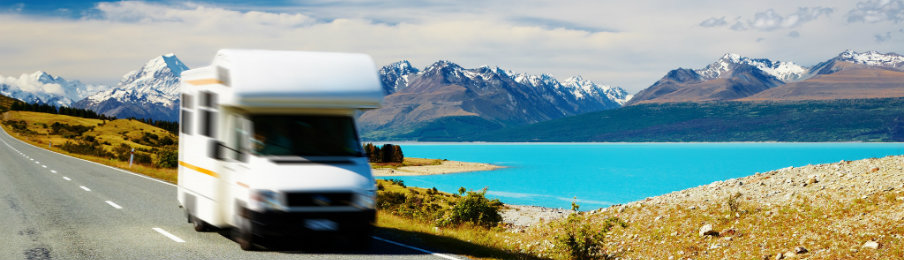 travelling in a campervan hire in new zealand