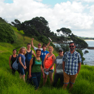 tourists touring the spectacular whangarei area