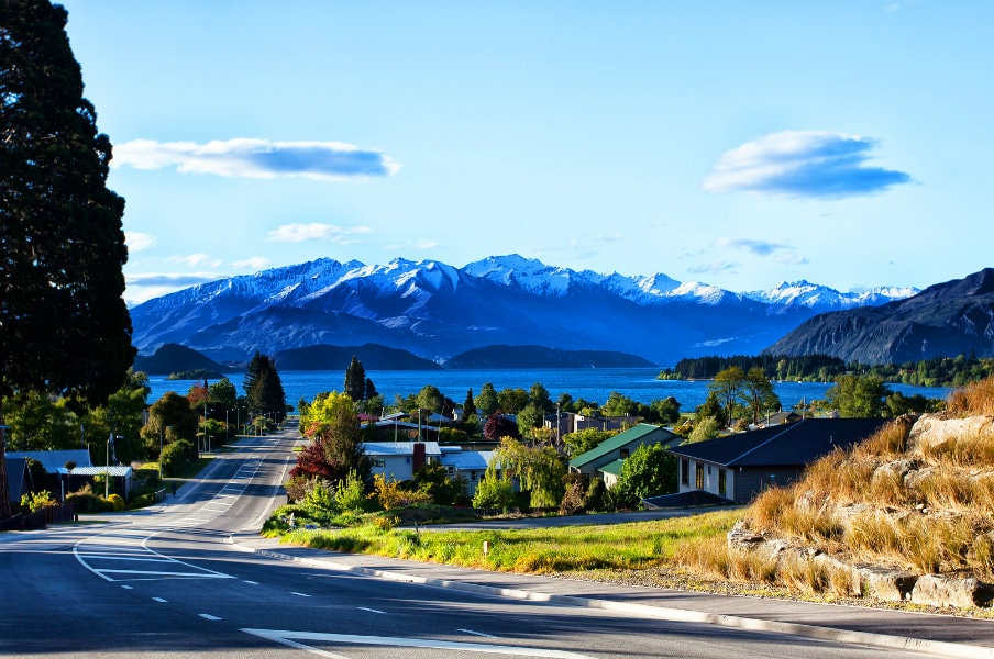 Wanaka Town in South Island, NZ